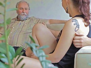 Kinky Gal Enjoys Old Boner Segment