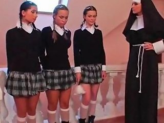 Three Schoolgirls And A Nun Txxx Com