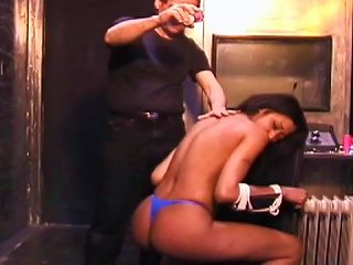 Black Schoolgirl Bound And Gagged In Dungeon